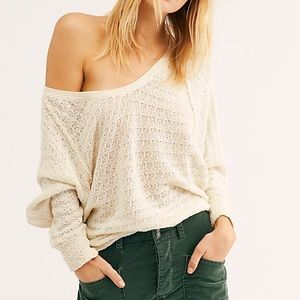Free People Thien's Hacci Top Sweater Knit Thermal